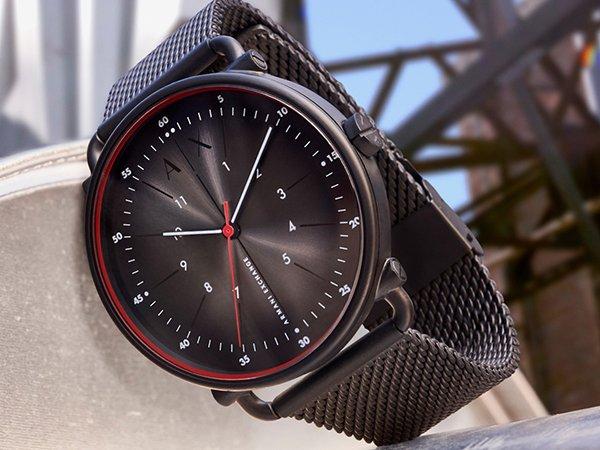 Stylowy zegarek w czarnym kolorze marki Armani Exchange
