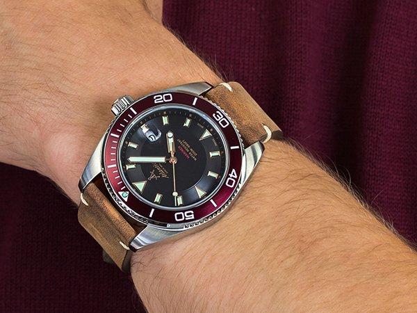 Męski zegarek marki Atlantic Mariner idealny jako prezent na Walentynki