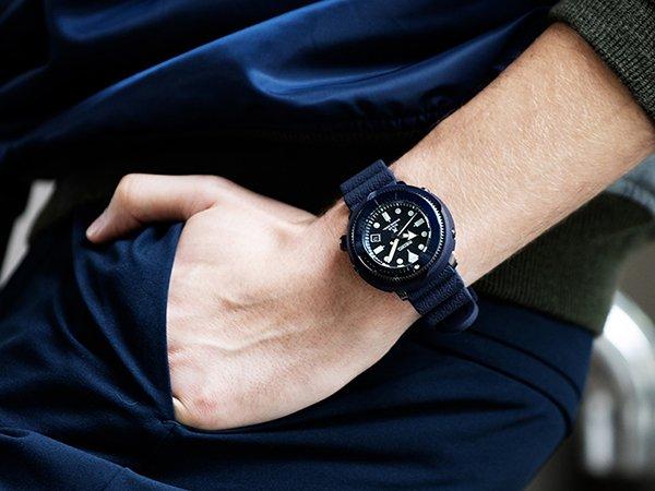 Designerski zegarek Seiko Tuna Street Series Solar