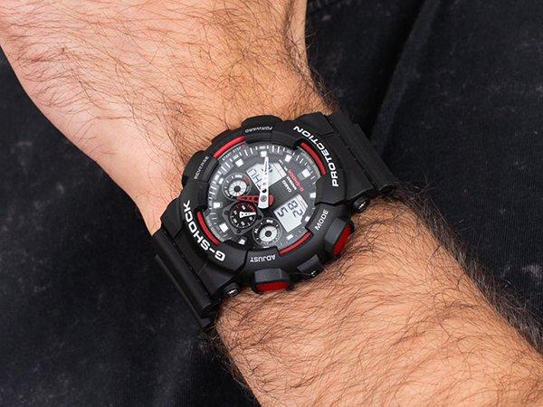 czarno-czerwony g-shock