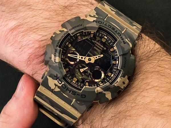 Militarna stylistyka w zegarku g-shock