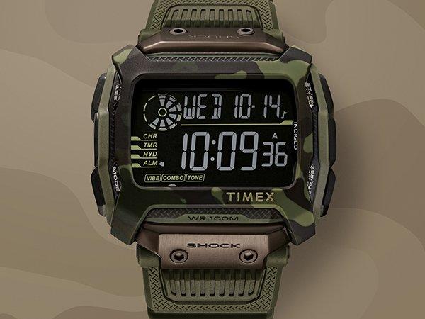 Stylowy zegarek Timex z tarczą cyfrową