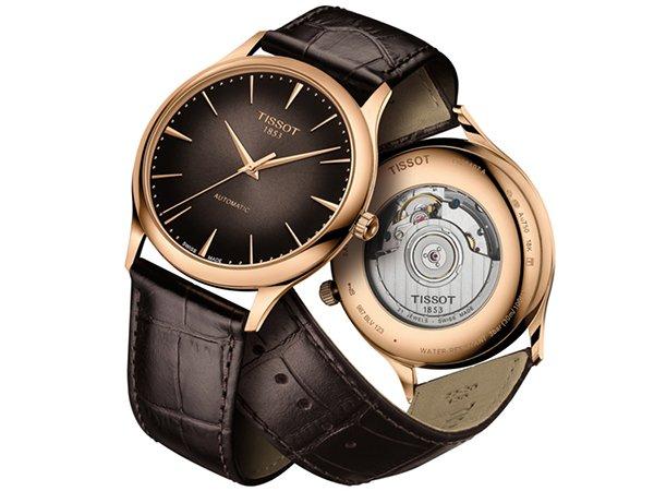 Złote zegarki Tissot Excellence -  piękno w każdym calu.