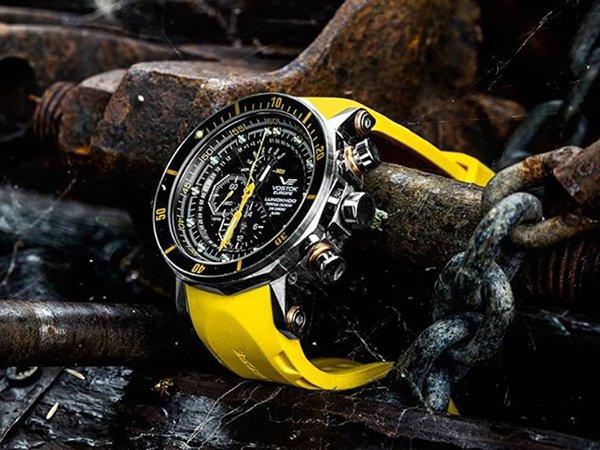Zawór helowy w zegarkach Vostok Europe dedykowanym nurkom.