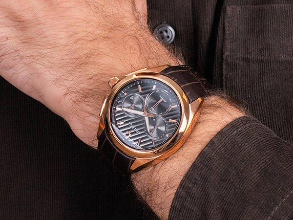 zegarek bulova na skórzanym brązowym pasku