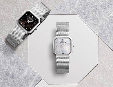 Emanujące elegancją damskie zegarki Michel Herbelin Octogone