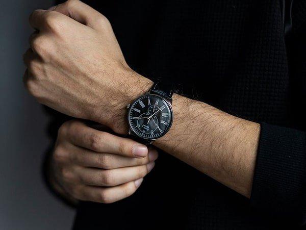 Stylowe zegarki Pierre Ricaud na skórzanym pasku