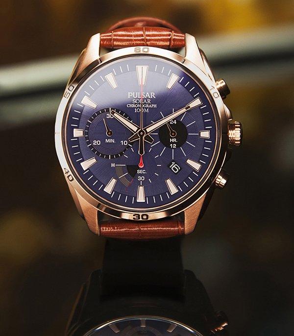 Zegarek Pulsar na skórzanym pasku