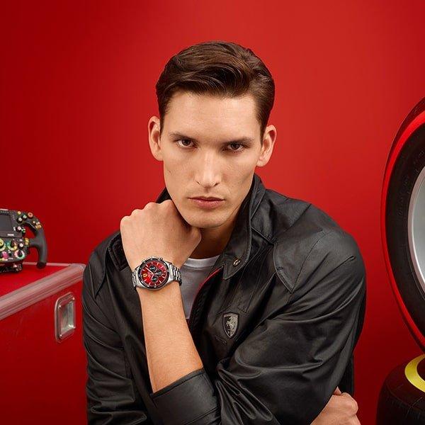Dynamiczne wzornictwo zegarków Scuderia Ferrari