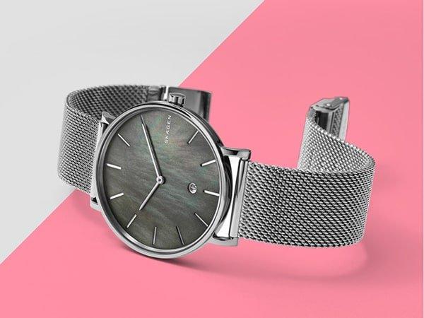 Zapięcia zegarków Skagen na bransolecie