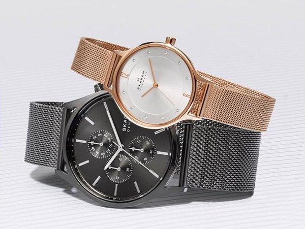 Zegarki Skagen na bransolecie typu mesh