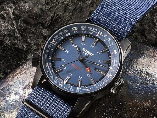 Zegarki wojskowe z niebieskimi akcentami