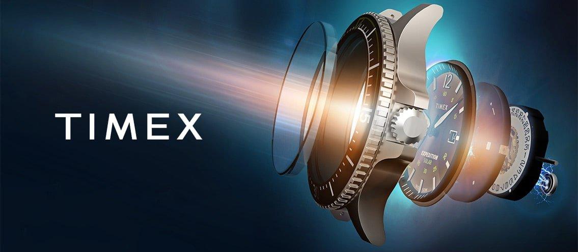 Orginalny zegarek marki Timex z mechanizmem solarnym.
