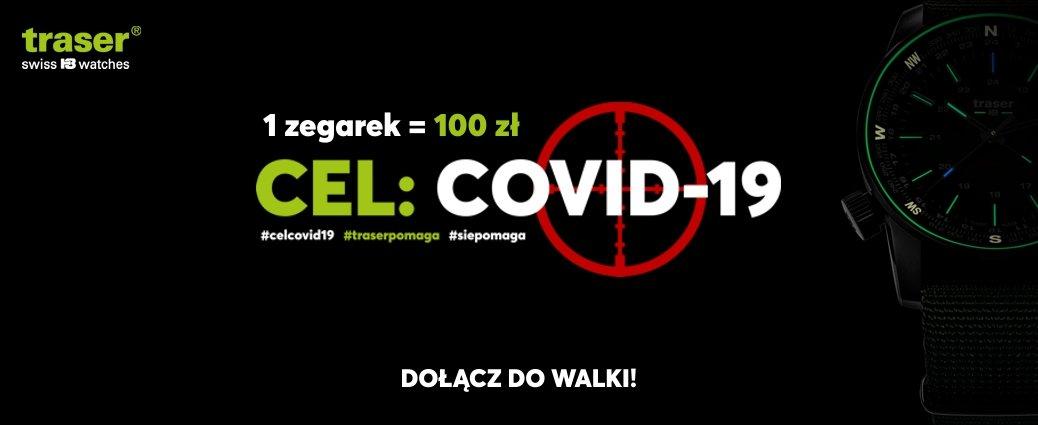 Kupując zegarek traser my przekazujemy 100zł na walkę z COVID-19