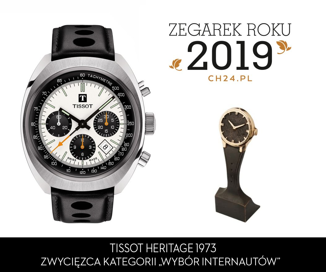 Zegarek Tissot Heritage 1973 jako zwycięzca w kategorii ''wybór internautów''.