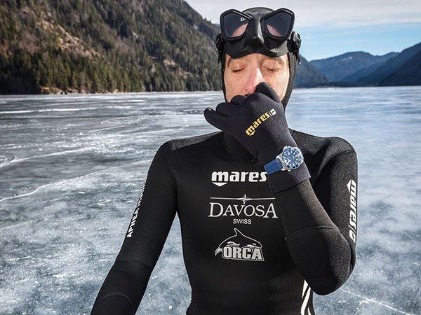 Nik Linder - profesjonalny freediver i ambasador marki Davosa