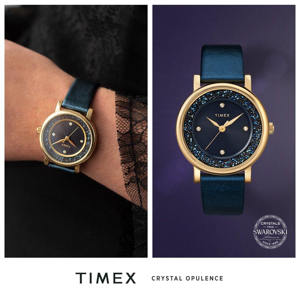 Kryształy Swarovskiego w zegarkach damskich Timex Crystal