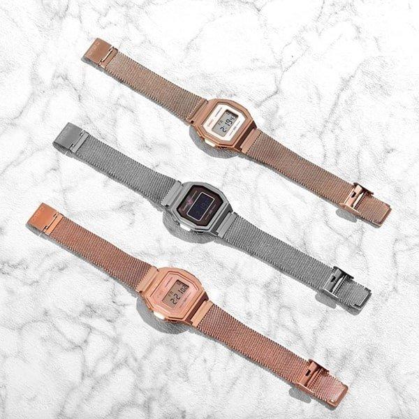 Zegarki Casio na bransolecie typu mesh