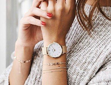 Złota jesień ze złotym zegarkiem Cluse
