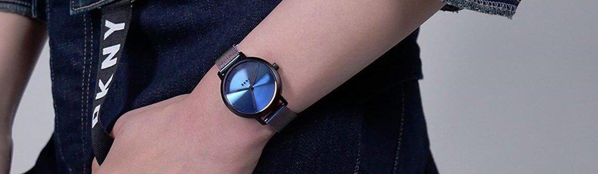 Stylowy zegarek DKNY na bransolecie mediolańskiej