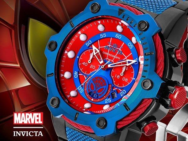 Oryginalny zegarek inspirowany spidermanaem