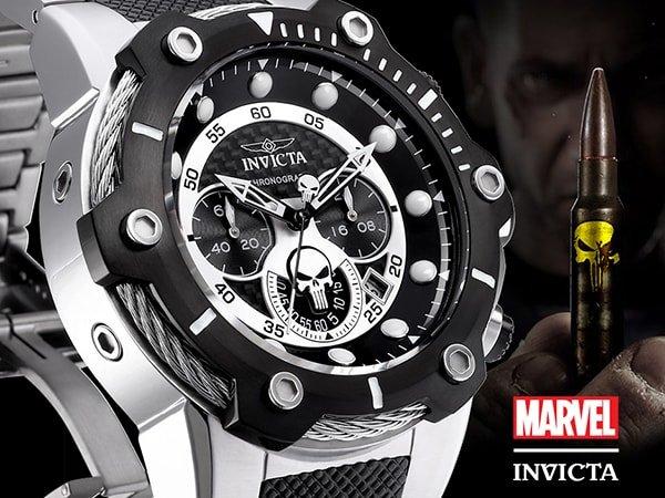 Stylowy zegarek Invicta inspirowany punisherem