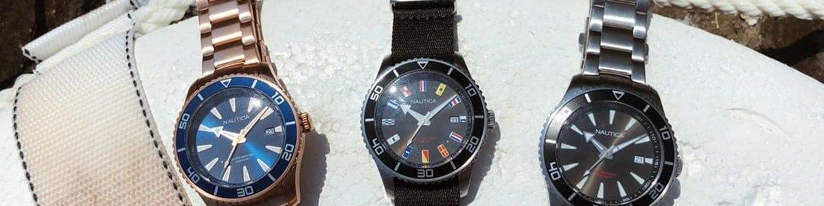 Zegarki Nautica na bransolecie