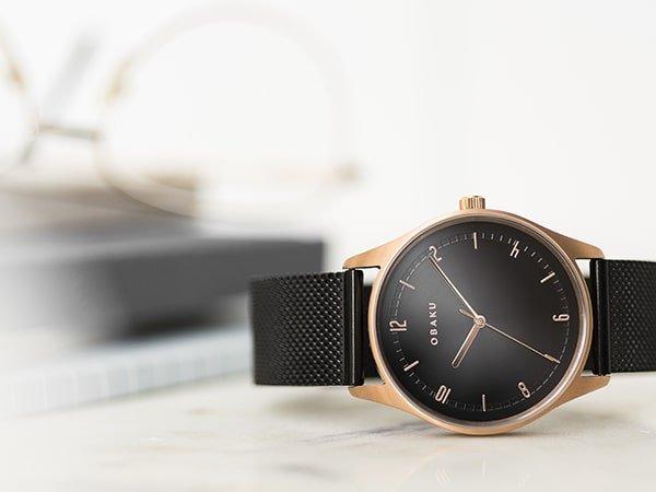 Uniwersalny minimalizm zegarków damskich Obaku