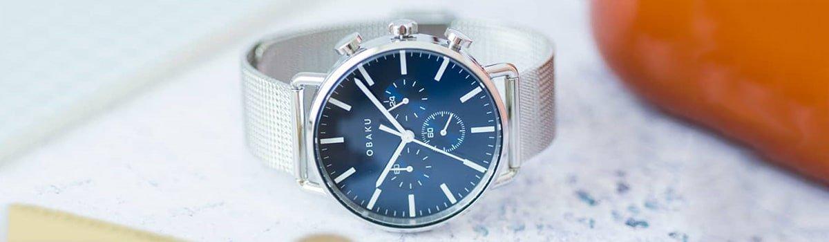 Minimalistyczne zegarki Obaku Denmark męskie