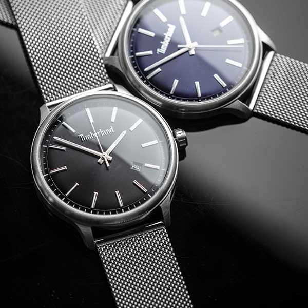 Eleganckie zegarki Timberland na bransolecie mesh