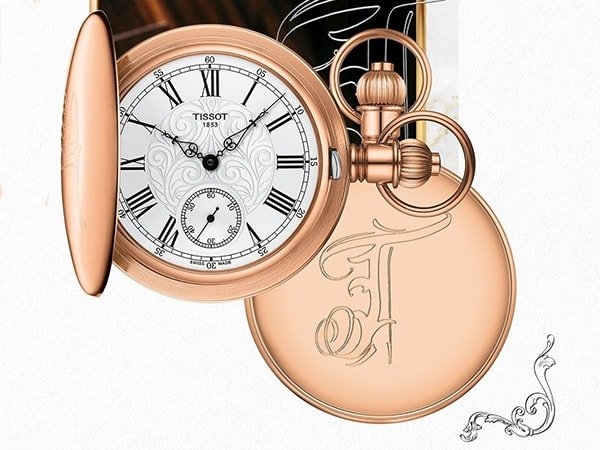 Klasyczny zegarek Tissot Lepine w kolorze różowego złota.