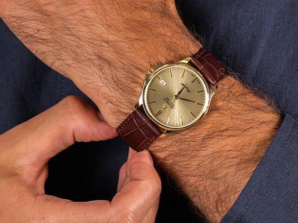 Luksusowy zegarek Atlantic ze złota