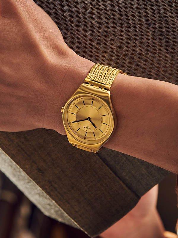 Zegarki Swatch na bransolecie