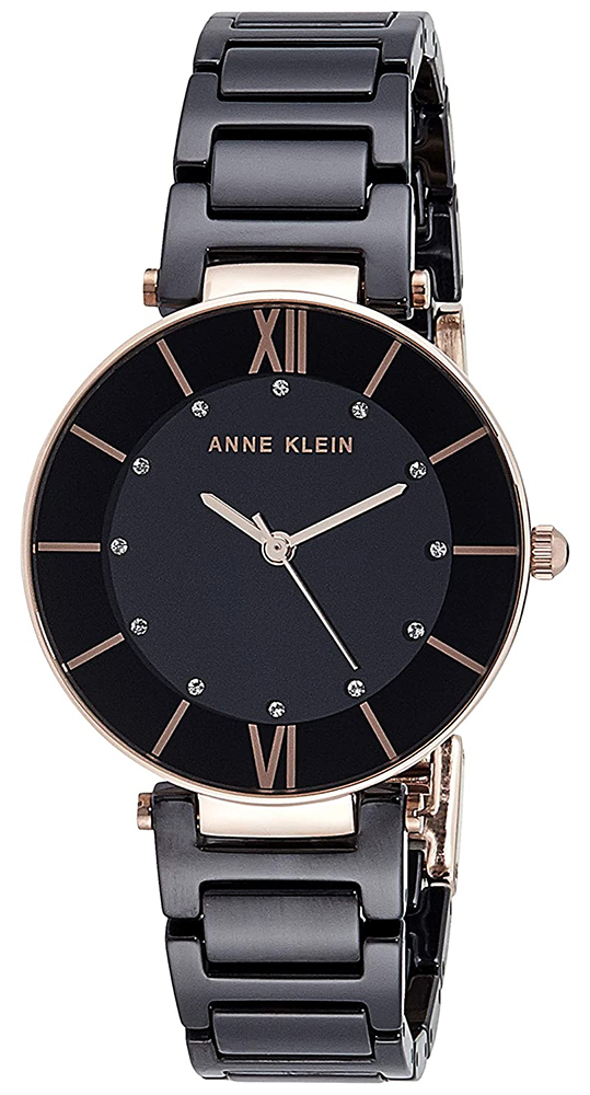 Anne Klein AK-3266BKRG - zegarek damski
