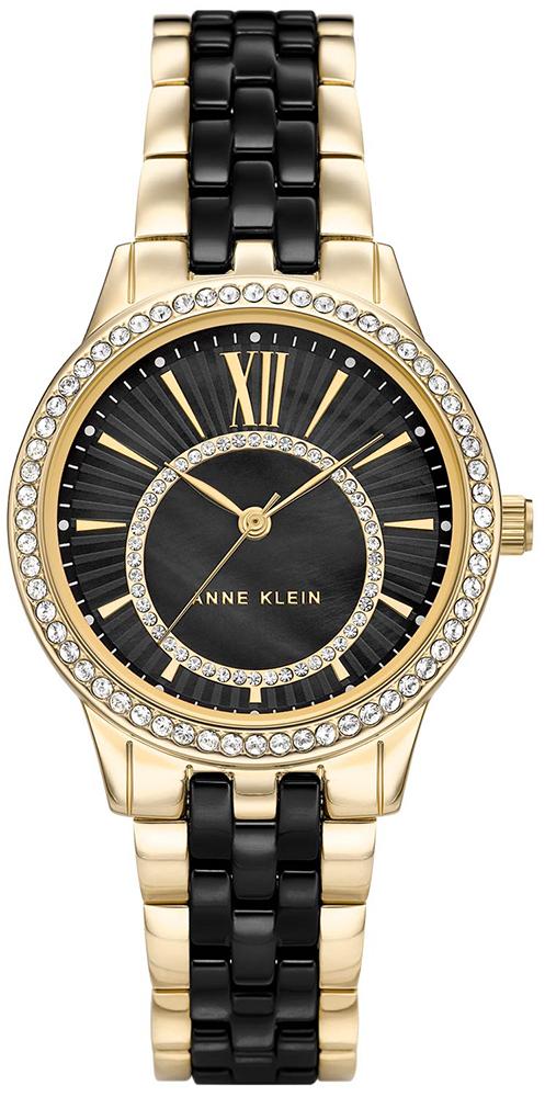 Anne Klein AK-3672BKGB - zegarek damski