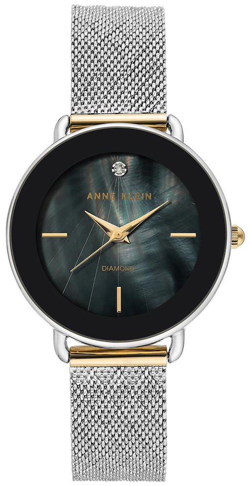 Anne Klein AK-3687BKTT - zegarek damski