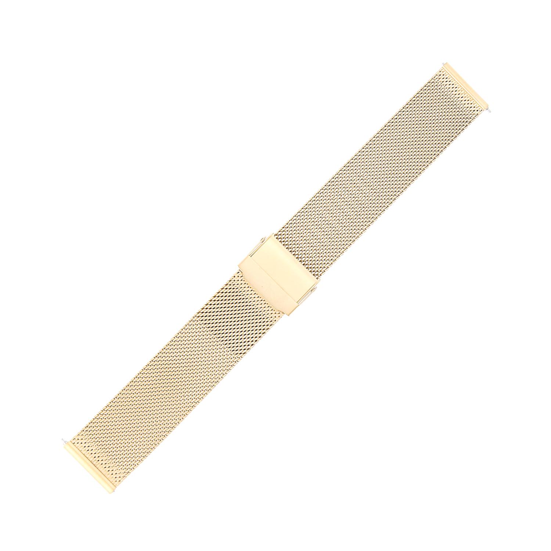 Bisset BM-101-16-GOLD-MAT - bransoleta do zegarka damski