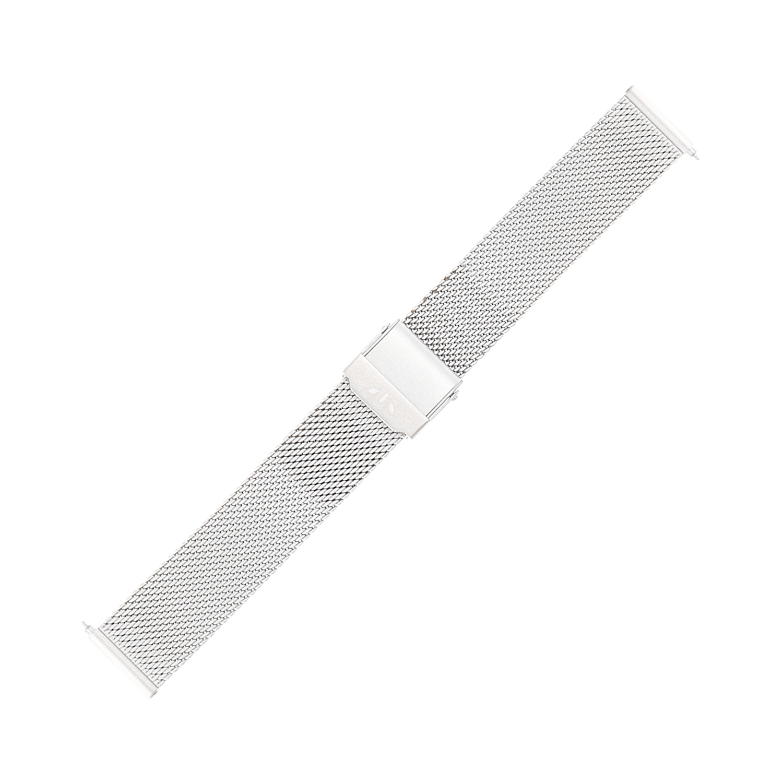 Bisset BM-101-20-SILVER-MAT - bransoleta do zegarka damski
