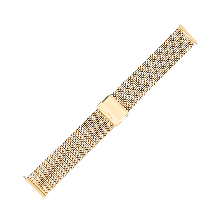 Bisset BM-102-20-GOLD-MAT - bransoleta do zegarka męski
