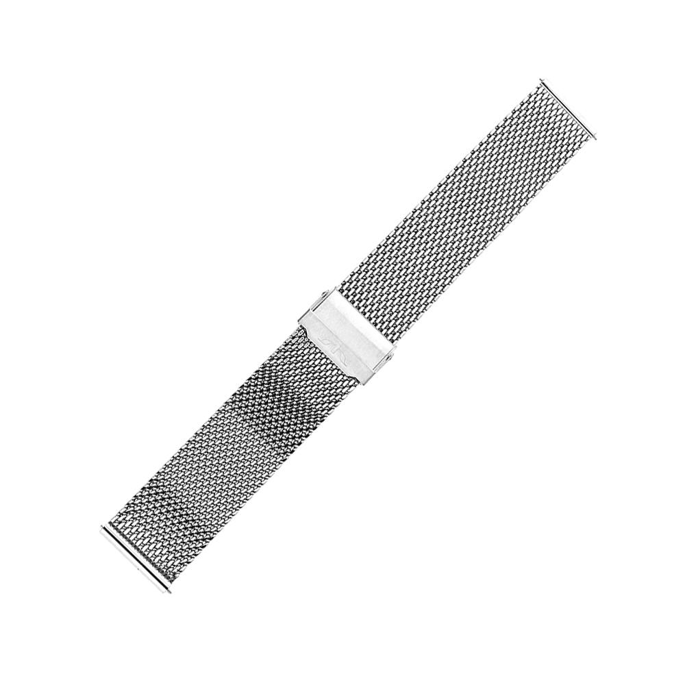 Bisset BM-102-20-SILVER - bransoleta do zegarka męski