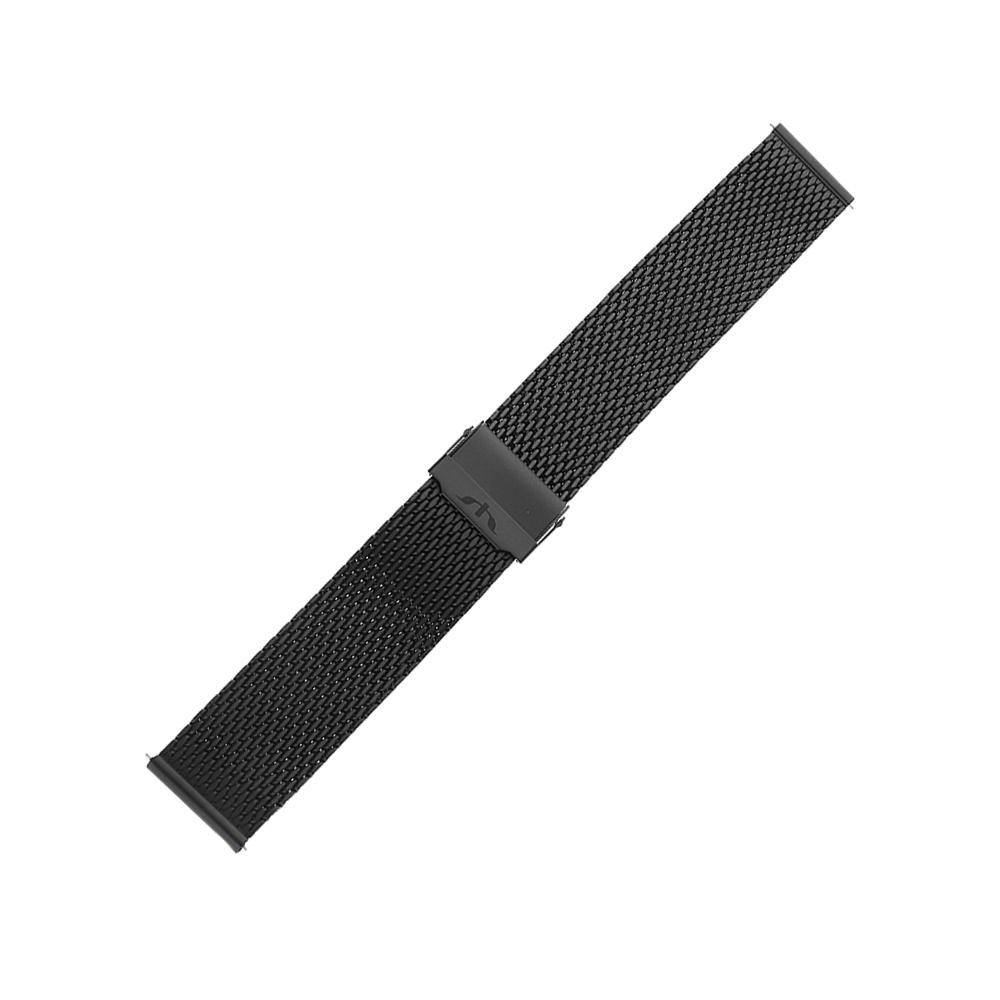Bisset BM-102-22-BLACK-MAT - bransoleta do zegarka męski