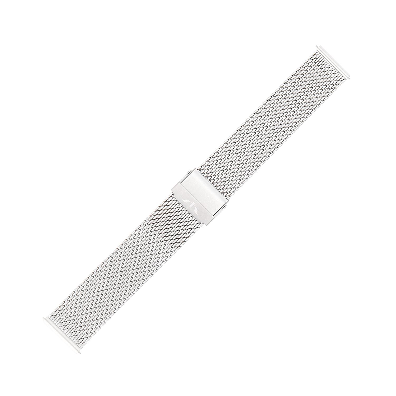 Bisset BM-102-22-SILVER-MAT - bransoleta do zegarka męski