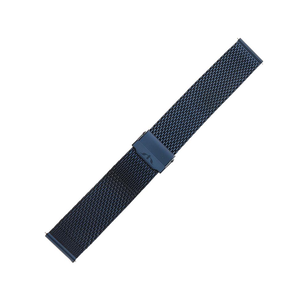 Bisset BM-102-22-BLUE - bransoleta do zegarka męski
