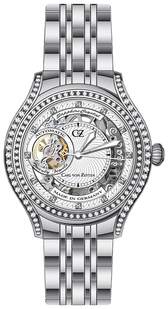 Carl von Zeyten CVZ0069WHMB - zegarek damski