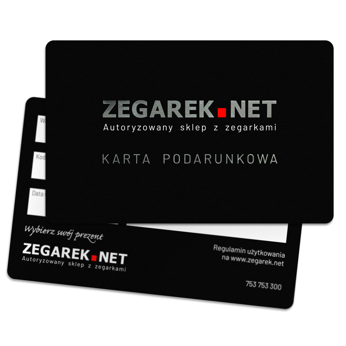 ZEGAREK.NET Karta podarunkowa 100 zł - karta podarunkowa