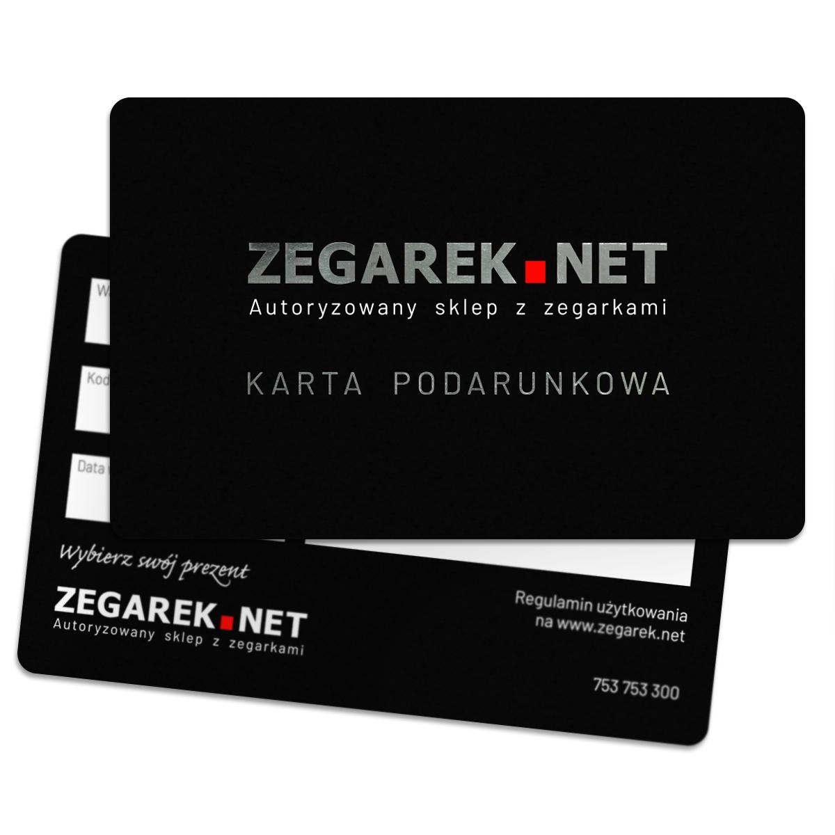 ZEGAREK.NET Karta podarunkowa 1000 zł - karta podarunkowa