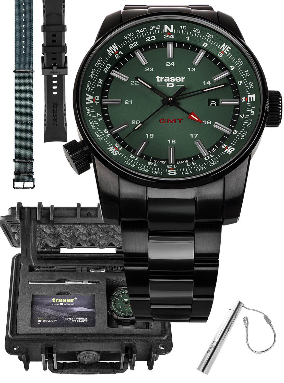 Traser TS-109525 MEGA SET - zegarek męski