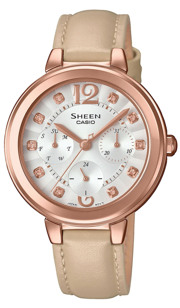 Casio Sheen SHE-3048PGL-7BUER - zegarek damski