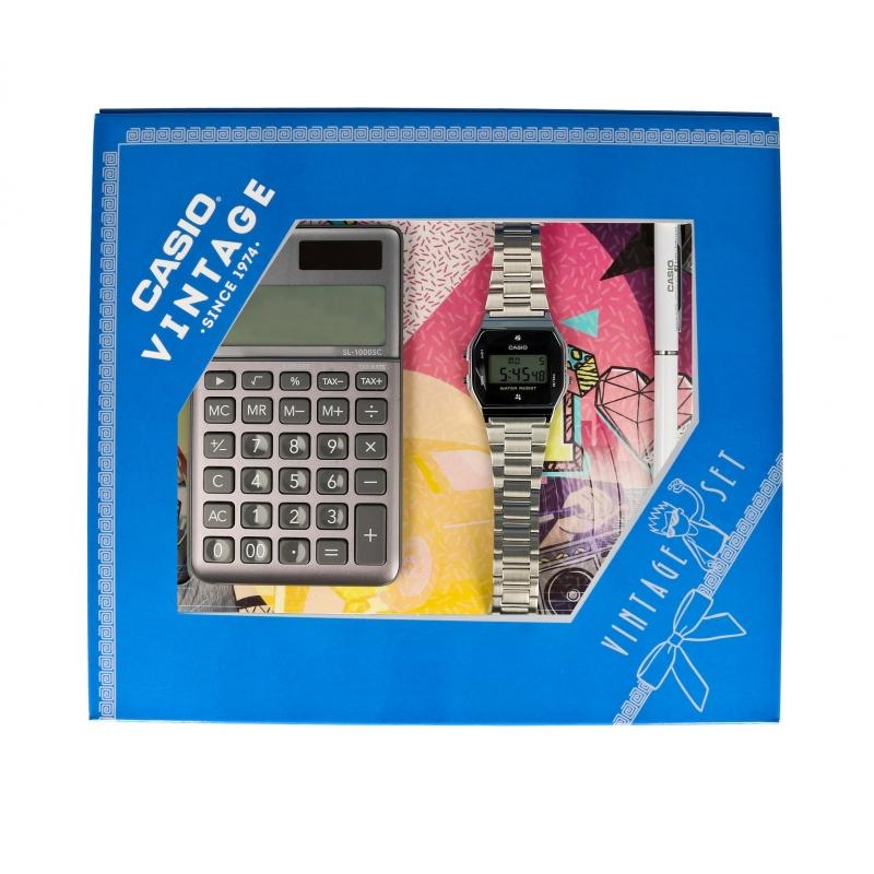 Casio ZESTAW-19-CV-GIFT-SET-SILVER - zegarek damski