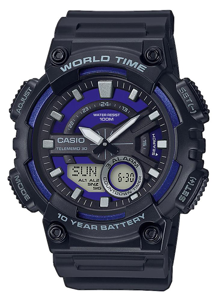 Casio AEQ-110W-2A2VEF - zegarek męski